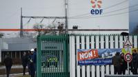 Des salariés de Fessenheim manifestent contre la fermeture de la centrale, le 19 janvier 2018 [FREDERICK FLORIN / AFP]