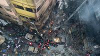 Le quartier de l'incendie à Dacca, le 21 février 2019 [Munir UZ ZAMAN / AFP]