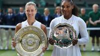 L'Allemande Angelique Kerber remporte la finale du tournoi de Wimbledon en battant l'Américaine Serena Williams le 14 juillet 2018 [Oli SCARFF                           / AFP]