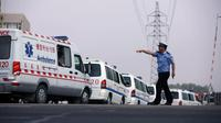 Des ambulances lors d'un précédent accident indutriel en Chine [ / AFP/Archives]