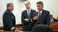 Jean Pascal Fauret (g) et Bruno Odos (d) au tribunal le 9 mars 2015 à Saint-Domingue  [ERIKA SANTELICES / AFP/Archives]