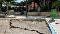 Une fissure, à Ponce, provoquée par l'un des tremblements de terre qui a frappé Porto Rico ces derniers jours [Ricardo ARDUENGO / AFP]