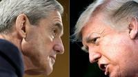 Donald Trump (droite) et Robert Mueller, le procureur spécial qui enquête sur une ingérence russe dans la campagne présidentielle de 2016 [SAUL LOEB, Brendan Smialowski / AFP/Archives]