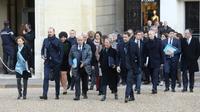 Arrivée du gouvernement au premier conseil des ministres à Paris le 6 janvier 2020 [LUDOVIC MARIN / AFP]