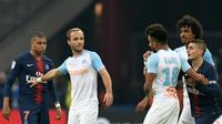 Les joueurs du Paris SG et de Marseille lors de la rencontre de Ligue 1 à Marseille le 28 octobre 2018 [CHRISTOPHE SIMON / AFP/Archives]