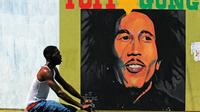 Un mural du chanteur jamaïcain Bob Marley, le 8 février 2009 à Kingston [JEWEL SAMAD / AFP/Archives]