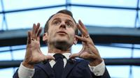 Le président français Emmanuel Macron à Paris le 09 octobre 2018 [ludovic MARIN / POOL/AFP]