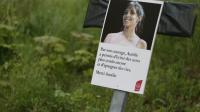 Portrait d'Aurélie Chatelain à l'occasion d'une marche lui rendant hommage, le 25 avril 2015 à Villejuif près de Paris [KENZO TRIBOUILLARD / AFP/Archives]