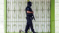 Un policier nicaraguayen à Masaya près de Managua, le 13 juillet 2018 [Inti OCON / AFP]