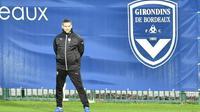 L'entraîneur de Bordeaux, Jocelyn Gourvennec, au Haillan à Bordeaux, le 17 janvier 2018 [NICOLAS TUCAT / AFP]