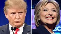 Le candidat à l'investiture républicaine Donald Trump, le 14 janvier 2016, et la candidate à l'investure démocrate Hillary Clinton, le 4 février 2016 [DSK / AFP/Archives]