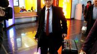 Le chef des inspecteurs de l'Agence internationale de l'énergie atomique (AIEA), Tero Varjoranta, le 10 février 2014 à l'aéroport de Vienne en provenance de Téhéran   [DIETER NAGL / AFP/Archives]