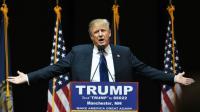 Le candidat à l'investiture républicaine Donald Trump, lors d'un meeting électoral à Manchester, le 8 février 2016 [Don EMMERT                           / AFP]