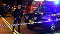 """Un check-point de la police à Sydney le 29 juillet 2017 où quatre personnes ont été arrêtées dans le cadre de l'enquête sur un """"complot terroriste"""" [William WEST / AFP]"""