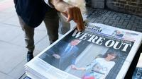 La Une du London Evening Standard après le référendum, le 24 juin 2016 [LEON NEAL / AFP]
