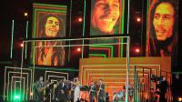 Portraits de Bob Marley, lors d'un concert hommage, le 10 février 2013 à Los Angeles  [Joe Klamar / AFP/Archives]