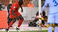 L'attaquant belge Romelu Lukaku lors du match de qualification à l'Euro-2020 face à San Marin, le 10 octobre 2019 à Bruxelles [YORICK JANSENS / BELGA/AFP]