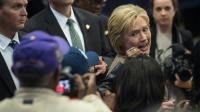 Hillary Clinton, candidate à la primaire démocrate, à Orangeburg, Caroline du sud, le 26 février 2016 [Nicholas Kamm / AFP]