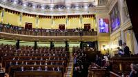 Le nouveau Parlement issu des élections législatives de décembre siège à Madrid pour la première fois, le 13 janvier 2015 [PIERRE-PHILIPPE MARCOU / AFP]