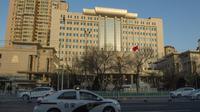 Le tribunal de Tianjin où se déroule le procès de l'avocat Wang Quanzhang, spécialisé dans la défense des droits de l'Homme, le 26 décembre 2018 en Chine [Nicolas ASFOURI / AFP]