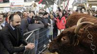 Edouard Philippe au 55e Salon de l'Agriculture à la Porte de Versailles à Paris le 27 février 2018 [Thomas SAMSON / AFP]