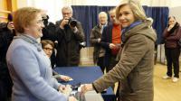 Valérie Pécresse vote à Versailles le 6 décembre 2015 [MATTHIEU ALEXANDRE / AFP]