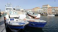 Des bateaux de pêche dans le port de S7te, dans le sud-est de la France, le 2 février 2010 [PASCAL GUYOT / AFP]