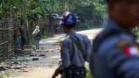 La police birmane a ouvert le feu sur une foule de nationalistes bouddhistes en colère, tuant sept manifestants dans une région sous très haute tension, théâtre de violences contre les musulmans rohingyas [STR / AFP/Archives]