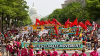 Une marche pour le climat, le 29 avril 2017 à Washington [Jose Luis Magana / AFP]