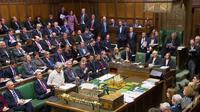 La Première ministre britannique Theresa May devant les députés, le 14 janvier 2019 à Londres (capture d'écran/ AFP Photo/PRU) [HO / PRU/AFP]