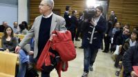 L'accusé Luc Fournié, à son arrivée lors de son procès de première instance, le 30 mars 2015 à Albi  devant les assises du Tarn [PASCAL PAVANI / AFP/Archives]