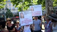 Manifestation contre les féminicides et les violences faites aux femmes, le 6 juillet 2019 à Paris [Martin BUREAU / AFP/Archives]