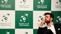 Gerard Piqué à Madrid le 17 octobre 2018, lors de la présentation de la ville hôte de la nouvelle Coupe Davis [GABRIEL BOUYS                      / AFP]