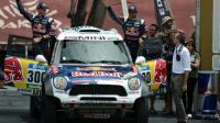 Le pilote Mini Nasser Al-Attiyah, lauréat de l'édition précédente avant le prologue du Dakar-2016, le 2 janvier à Buenos Aires [EITAN ABRAMOVICH / AFP]