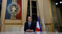 Le président Emmanuel Macron avant sa première interview télévisée à l'Elysée le 15 octobre 2017   [PHILIPPE WOJAZER / POOL/AFP]