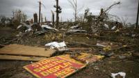 Les dégats causés par une tornade, à Mayflower, dans l'Arkansas, le 30 avril 2014 [MARK WILSON / GETTY IMAGES NORTH AMERICA/AFP/Archives]