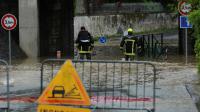 Voie inondée le 31 mai 2016 à Meung-sur-Loire dans le Loiret [GUILLAUME SOUVANT / AFP]