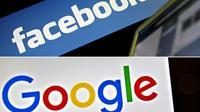Plusieurs commissions parlementaires américaines doivent auditionner des représentants de Facebook, Twitter et Google [LEON NEAL, LOIC VENANCE / AFP/Archives]