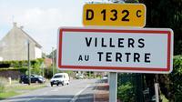 L'entrée du village de Villers-au-Tertre, où les corps de huit bébés furent découverts le 29 juillet 2010 [Denis Charlet / AFP/Archives]