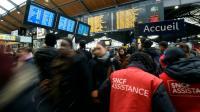 La gare Saint-Lazare à Paris le 26 avril 2016, jour de grève à la SNCF [MIGUEL MEDINA / AFP/Archives]