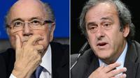 Photomontage de Joseph Blatter et Michel Platini [FABRICE COFFRINI / AFP/Archives]