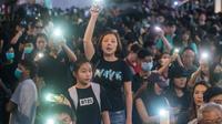 Manifestation dans le quartier de Tsim Sha Tsui, le 2 novembre 2019 à Hong Kong [Philip FONG / AFP]