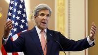 Le secrétaire d'Etat américain John Kerry, le 19 juillet 2016 à Londres [Kirsty Wigglesworth / POOL/AFP]
