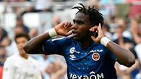 L'attaquant de Reims Boulaye Dia buteur lors de la victoire à Marseille 2-0 en 1re journée de L1 [GERARD JULIEN / AFP]