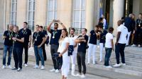 Les médaillés français des JO de Rio, reçus à l'Elysée, le 23 août 2016 [STEPHANE DE SAKUTIN / AFP]