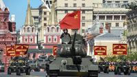 Défilé militaire sur le place Rouge à Moscou pour célébrer la victoire sur l'Allemagne nazie, le 9 mai 2018 [Kirill KUDRYAVTSEV / AFP]