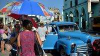 Un taxi dans une rue de La Havane, le 18 juillet 2018 [YAMIL LAGE / AFP/Archives]