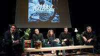 Depuis la gauche Sébastien Farran, Bertrand Lamblot, Marie-Helene Chassagne, Yodelice et Thierry Chassagne lors du conférence de presse à Paris, le 15 octobre 2018 [Geoffroy VAN DER HASSELT / AFP]