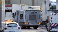 Un véhicule de société de transport de fonds Loomis après un braquage le 19 octobre 2012 à Aubervilliers [Mehdi Fedouach / AFP/Archives]