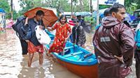 Opérations de secours dans le Kerala, le 16 août 2018 [- / AFP]